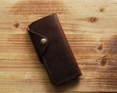 Leather Wallet | Men's Gift | Personalized Wallet | Leather Motorcycle Wallet | Horween | Biker Wallet | Long Wallet | Fathers Day Gift