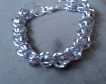 Silver Chainmail Captured Bead Bracelet