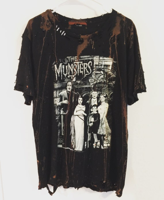 The munsters distressed t shirt by chad cherry for Custom t shirts distressed
