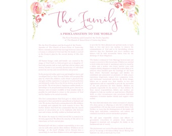 Family Proclamation, LDS Quote. Downloadable File.