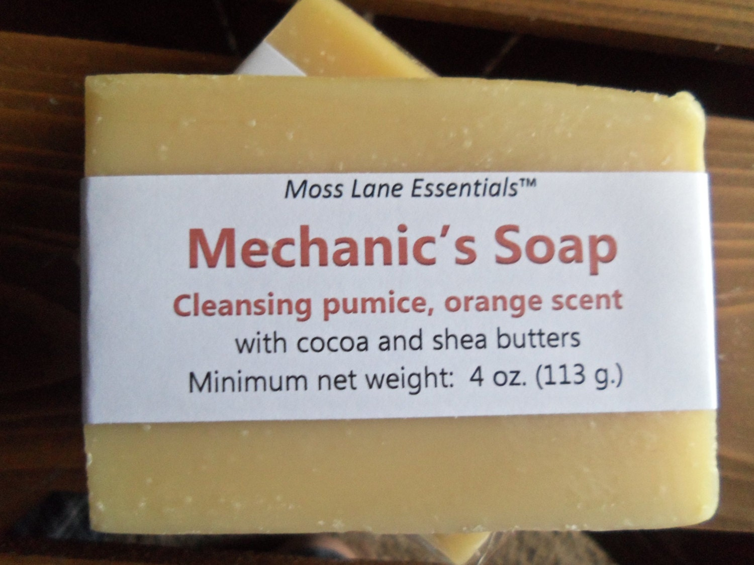Mechanic S Cold Process Soap With Pumice And Orange