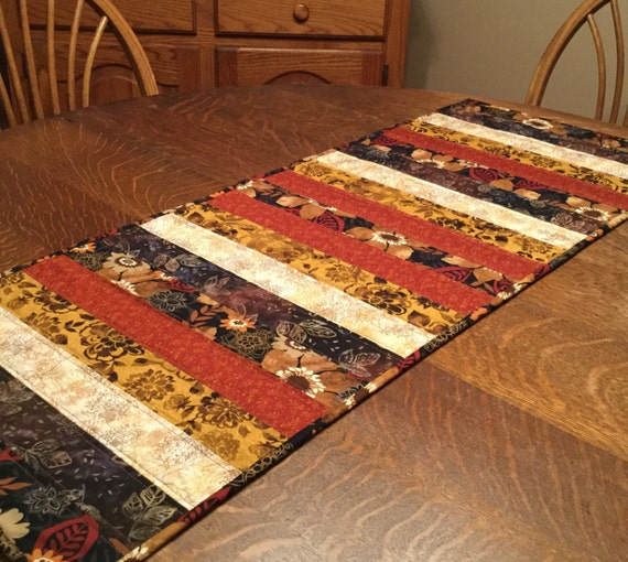 Quilted Table Runner, quilted fall table runner, table runner, fall table runner