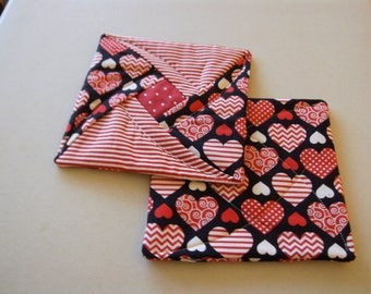 Quilted Valentines Day Potholder