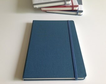 Draw your mind recycled paper sketchbook in blue, grey and red