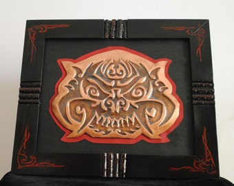 Tribal Occult Mask, Framed