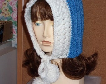 Tween Girl's Frozen Inspired Hood with Pom-poms ~ Ages 10 -14 ~ Ready to Ship Now