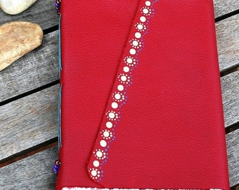Red Leather Journal / Notebook / Made in Australia
