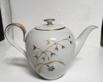 Vintage H & G Selb Bavaria Germany Teapot Golden Harvest Fine China Ceramic Hand Painted