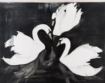 Three Swans Print