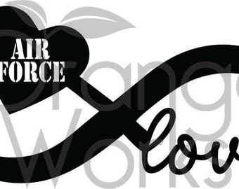 Airforce Infinity Love SVG