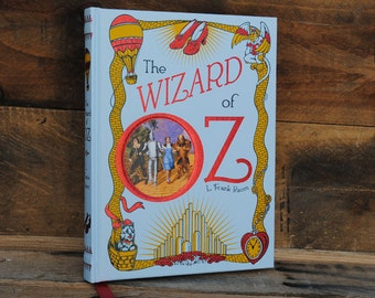 Hollow Book Safe - The Wizard of Oz - White - Leather Bound
