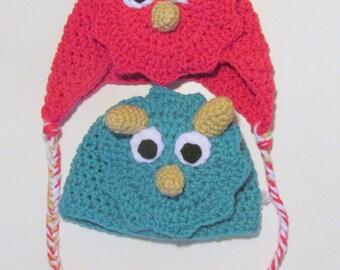 Crochet Deerstalker Hat Pattern : Deerstalker Sherlock Holmes Hat PDF Crochet Pattern Newborn