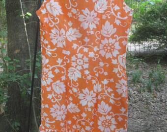 60s floral shift style dress, Lane Bryant label, size medium