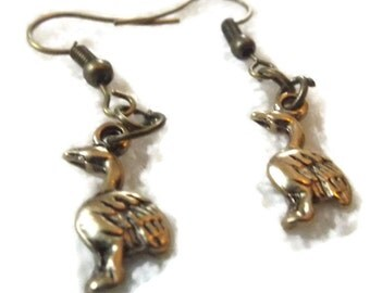 Bronze Goose Earrings