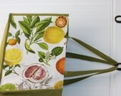 Citrus Farmers Market Tote - Shopping Bag - Lemons - Oranges