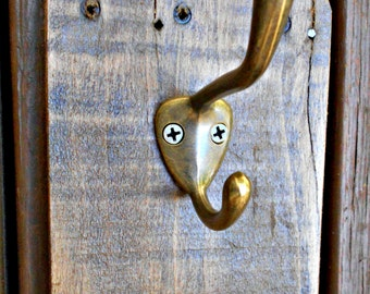 Single Coat Hook, Wall Towel Hook, Kitchen Towel holder, Wall Hook, Rustic Coat Rack, One Hook, Bath Towel Hook, Guest Room or Garment Hook