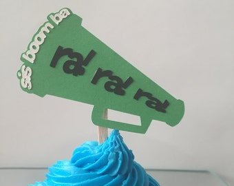 Cheerleading Ra Ra Ra Bullhorn Cupcake Topper