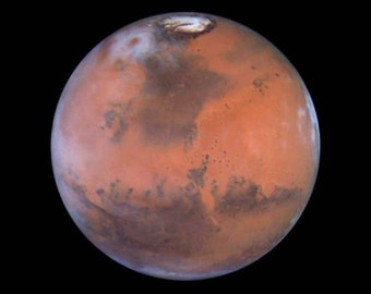 Planet Mars,  Hubble Telescope, Space  -Photo Print