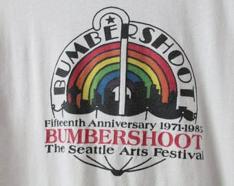 LARGE Vintage 1985 Bumbershoot Seattle Arts Festival Soft and Thin Graphic T-Shirt