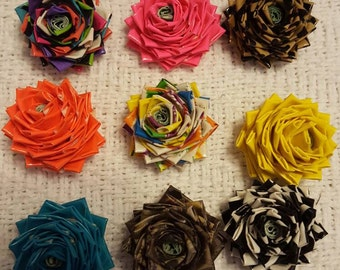 10 Mini Duct Tape Flowers