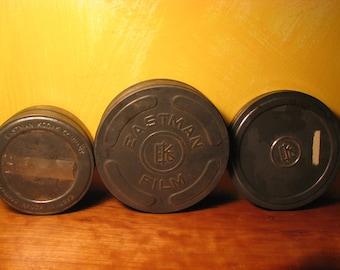Three Vintage Kodak Film Tins