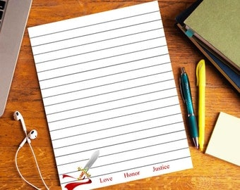 Fantasy Stationery / Personal Stationery / Sword Stationery / Personalized Stationery / Printable Stationery / Writing paper