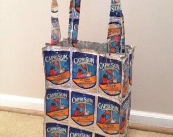 Orange Capri Sun Juice Pouch Tote Bag