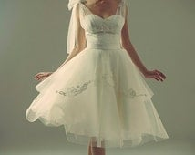 Unique 50s Wedding Dress Related Items Etsy