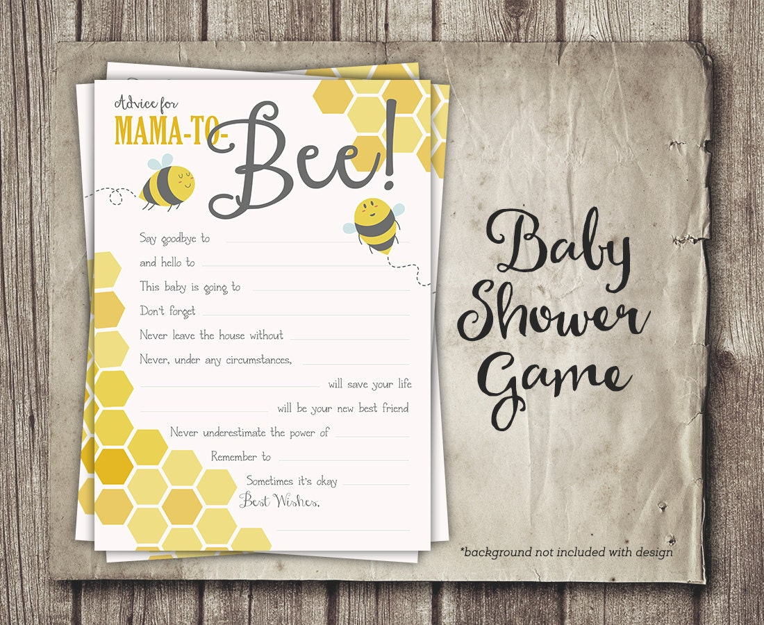 Advice Baby Shower Game Advice Mama to Bee or Parents to