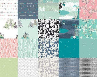 Half Yard Bundle (20) PANDALICIOUS by Katarina Roccella for Art Gallery Fabrics Half yards