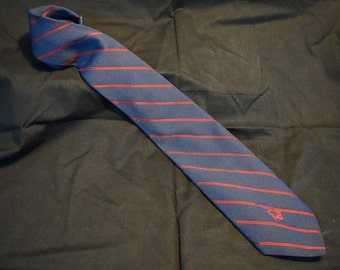Vintage Dior out of Mass Brothers Florida navy with red diagonal stripes tie necktie