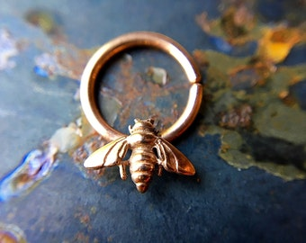 Rose Gold Bee Septum Ring