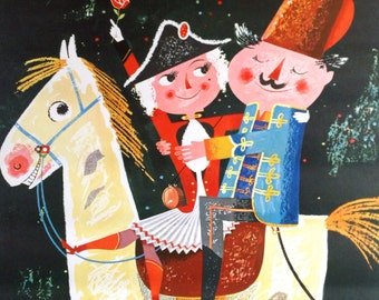 Illustrated Carnival in Koln Original German Advertising Vintage Travel Poster Mid Century by Krebs Illustration Childrens'
