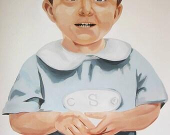 CUSTOM Portrait Painting of One Child