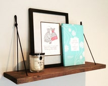 Minimalist Hanging Rope Shelf // Succulent & Herb Paracord Shelf // Rope Knot Shelf // Floating Book Shelf