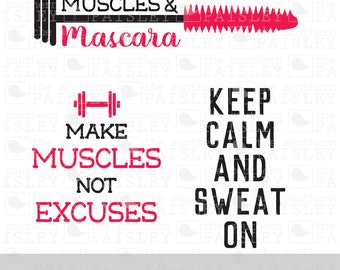 Workout Designs - .svg/.eps/.dxf/.jpg/.pdf/.ai for Silhouette Studio, Cricut, or other cutting software