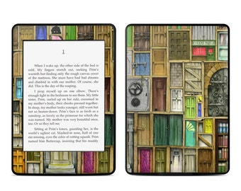 Amazon Kindle Skin - Doors Closed by Colin Thompson - Sticker Decal - Fits Paperwhite, Fire, Voyage, Touch, Oasis