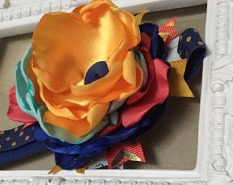The Annabella Headband - Baby Headband - Satin Flower Headband
