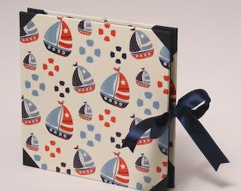 Unisex Baby Photo Album, Memory Album for Kids, Sailor Sailing Boat Scrapbook Album Photoalbum for New Baby, Baby Shower Gift, New Born Gift