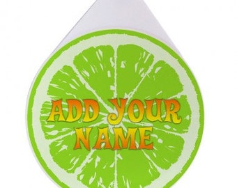 Lime - Add Your Name - Custom Glass Rimmer Lid / Glass Rimmer