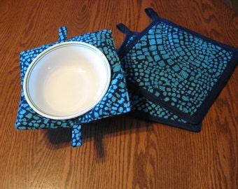 Blue Batik Kitchen Set