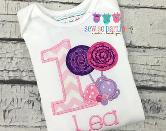 1st Birthday Candy Outfit - Candy Birthday Shirt - 2nd Birthday Candy Shirt - Lollipop Birthday Outfit - 2nd Birthday Shirt - Candy Birthday