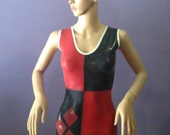 Harley Quinn cosplay latex dress