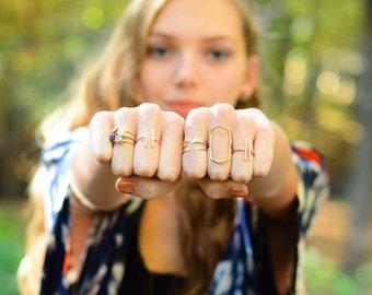 Open Geometric Ring, Geometric  Shape Ring, Hammered Ring Gold, Textured Gold Ring, Geometric Square Ring, Geometric Style Ring