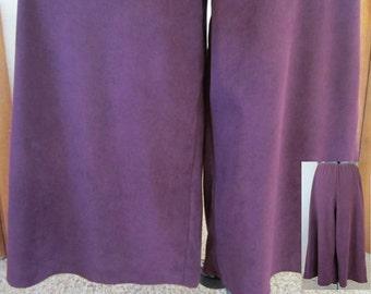 Vintage 80's Ladies Handmade Wine Moleskin Split-Skirt Handmade Gauchos Comfortable Practical Classic Country Style Ladies Fashion Gift Idea