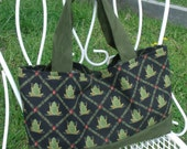 Private listing for OZ Print Upholstery Tote Bag and more