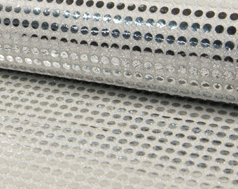 6mm Sparkling Sequin Fabric Material Glitter Sparkle - 6mm sequins - 115cm wide SILVER