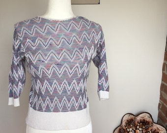 Vintage 1980s zig zag sweater