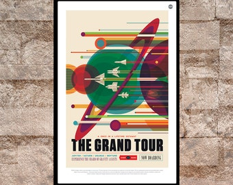 "Reprint of a NASA/JPL SpaceX ""The Grand Tour"" Poster"