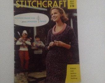 Vintage Stitchcraft Magazine, Knitting and Stitching Magazine, Pattern Booklet, November 1961, Vintage Haberdashery